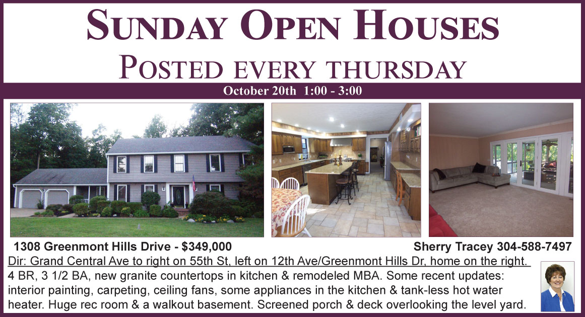 Open Houses | Mid Ohio Valley | Berkshire Hathaway HomeServices